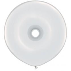 Ballons qualatex donut 16 inch 40 cm BLANC poche de 25