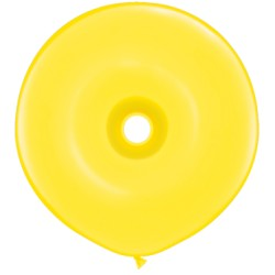 25 Ballons qualatex donut 40 cm JAUNE