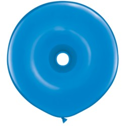 25 Ballons qualatex donut 40 cm BLEU DARK BLUE