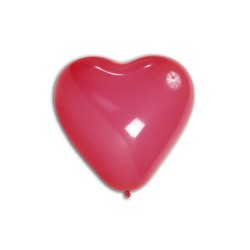 5 COEURS ROUGE 40 cm GAMME BALLONS PLUS BWS Coeurs Gamme Eco