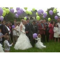 100 ballons 28 cm gonflés hélium IDF