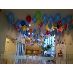 324 ballons 28 cm gonflés hélium