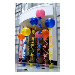 1 ballon gonflé hélium IDF 55 CM BOUCLE 260