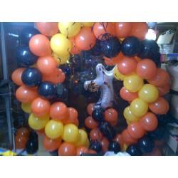 VITRINE HALOWEEN ARCHE RONDE Décorations Ballons Commerces Et Centres Commerciaux