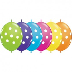 50 BALLONS 30 CM DOUBLE ATTACHE QUALATEX MELANGE TROPICAL QUALATEX Double Attaches Qualatex