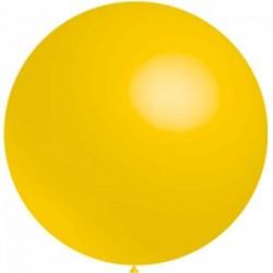 5 ballons 40 cm diamètre jaune d'or * 55739 BWS 40 cm rond OPAQUE (pour décoration air ou hélium )