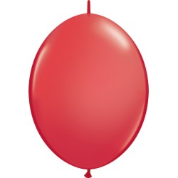 10 BALLONS 30 CM DOUBLE ATTACHE QUALATEX ROUGE