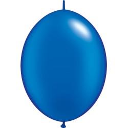 DOUBLE ATTACHE 30 cm metal perlé bleu POCHE DE 25