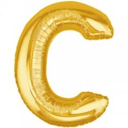 C OR LETTRE BALLONS MYLAR 86 CM CORT40P1 BETALLIC Lettres Ballons Mylar 86 cm ( Air Ou Hélium)(or ou argent au choix)