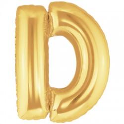 D OR LETTRE BALLONS MYLAR 86 CM DORT40P1 BETALLIC Lettres Ballons Mylar 86 cm ( Air Ou Hélium)(or ou argent au choix)