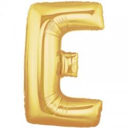 E OR LETTRE BALLONS MYLAR 86 CM EORT40P1 BETALLIC Lettres Ballons Mylar 86 cm ( Air Ou Hélium)(or ou argent au choix)