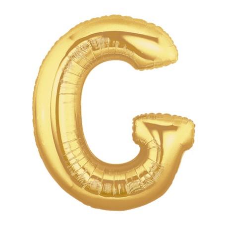 G OR LETTRE BALLONS MYLAR 86 CM