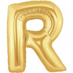 R OR LETTRE BALLONS MYLAR 86 CM RORT40P1 BETALLIC Lettres Ballons Mylar 86 cm ( Air Ou Hélium)(or ou argent au choix)