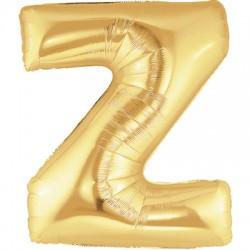 Z OR LETTRE BALLONS MYLAR 86 CM ZORT40P1 BETALLIC Lettres Ballons Mylar 86 cm ( Air Ou Hélium)(or ou argent au choix)