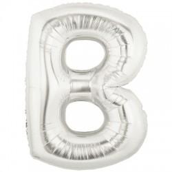 B ARGENT LETTRE BALLONS MYLAR 86 CM BARGENT40P1 BETALLIC Lettres Ballons Mylar 86 cm ( Air Ou Hélium)(or ou argent au choix)