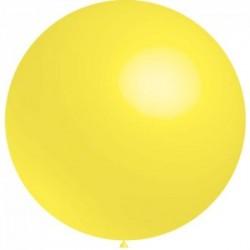 ballons 40 cm diamètre jaune *5rr16 jaune BWS 40 cm rond OPAQUE (pour décoration air ou hélium )