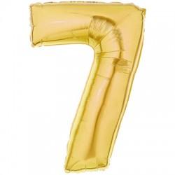 7 OR Chiffre métal mylar 7