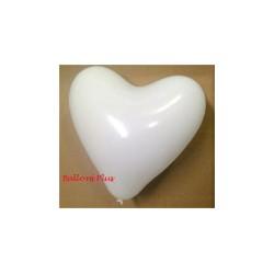 25 ballons coeur blanc 30 cm de diamètre