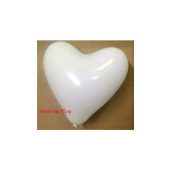 ballons baudruche coeur blanc 30 cm de diamètre BWS Coeurs Gamme Eco