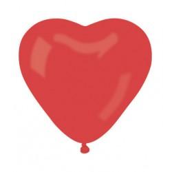 25 ballons coeur rouge 30 cm de diamètre