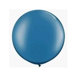 Métaliisé bleu foncérond 40 cm poche de 5