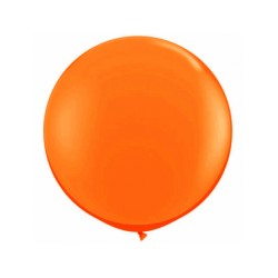 METALLISE ORANGE rond 40 cm POCHE DE 5
