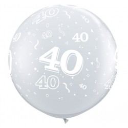 40 CRISTAL TRANSPARENT 90 cm Ø Qualatex