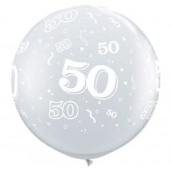50 cristal transparent 90 cm Ø qualatex Chiffres De 18 A 100 Ballons Imprimes