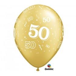 50 OR 28 cm de diamètre qualatex POCHE DE 25 Chiffres De 18 A 100 Ballons Imprimes