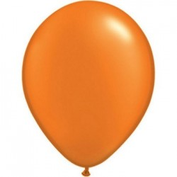 METAL ORANGE 35 cm POCHE 25 BALLONS