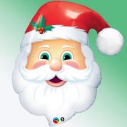 1 PERE NOEL MYLAR 81 CM20562 QUALATEX Noël