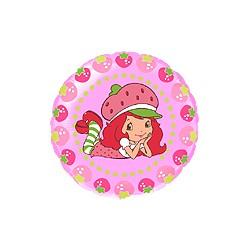 charlotte aux fraises mylar rond 45 cm non gonflé