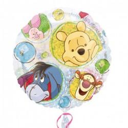 Winnie et amis portrait ballon mylar 45 cm