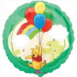Winnie Arc en ciel ballon mylar 45 cm