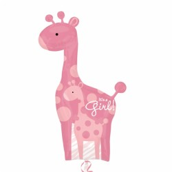 Giraffe bébé fille ballon mylar 64*107 cm non gonflé