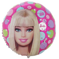 Barbie ballon métal diamètre 45 cm