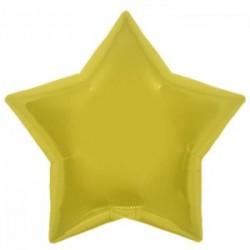 ballon mylar métal étoile or