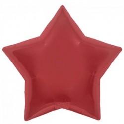 Etoile mylar 46 cm rouge non gonflé