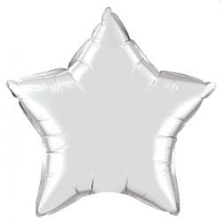 étoile mylar argent 50 cm Qualatex