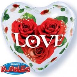 coeur bubble imprimé coeurs QUALATEX Amour Et Saint Valentin