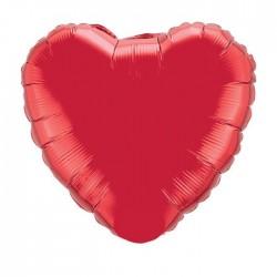 ballon mylar métal coeur rouge