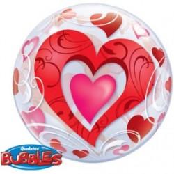 bubble imprimé coeurs QUALATEX Amour Et Saint Valentin