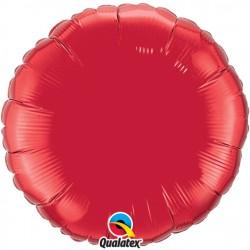 rouge ballon mylar rond 90 cm de diamètre vendu non gonflé12681 QUALATEX Rond Mylar 90 Cm