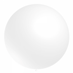 ballons baudruche 60cm diamètre blanc