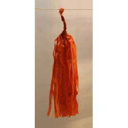 Tassel papier orange poche de 5 pompoms