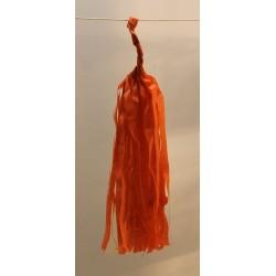 Tassel papier orange poche de 5 pompoms