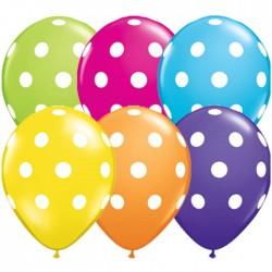ballons à gros point blanc 28 cm diamètreQBIGPOLKADOT18650P25 Les Ballons De Decorations