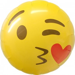 Smile jaune emoticon 45 cm à plat