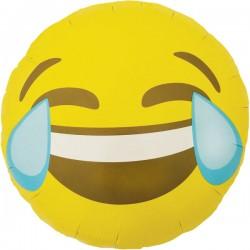 Smile emoticon rire aux larmes 45 cm à plat
