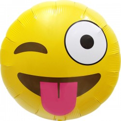 Smile emoticon Clin d'Oeil 45 cm à plat